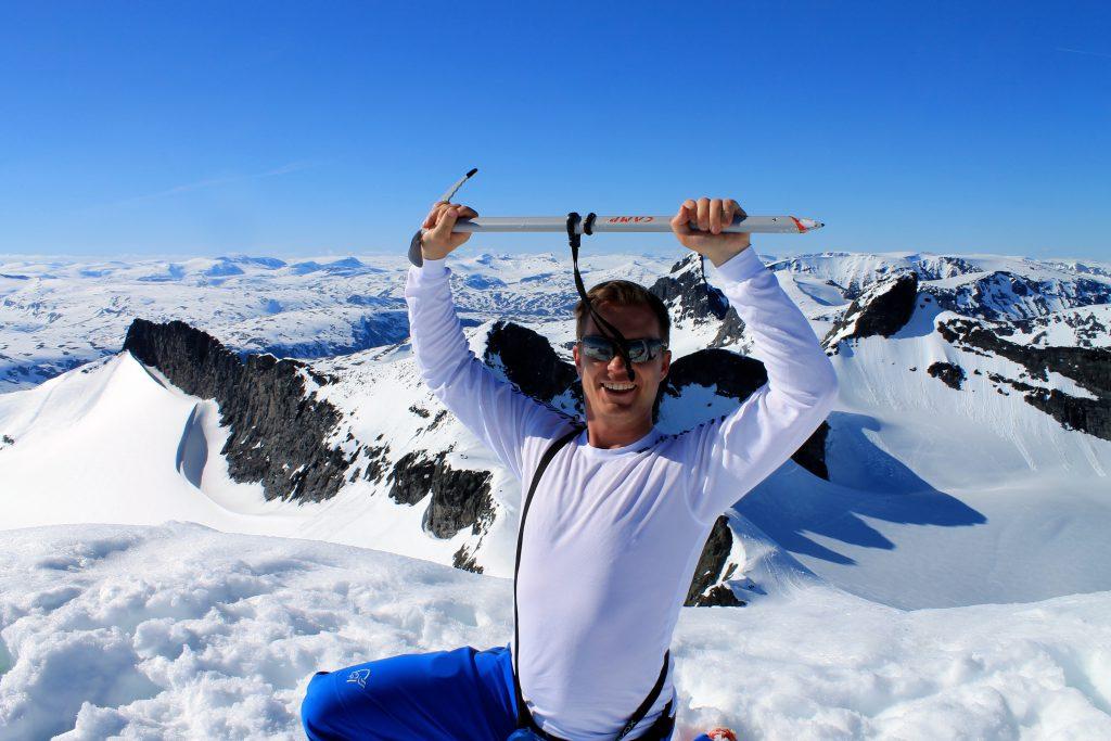 På toppen av Storebjørn.