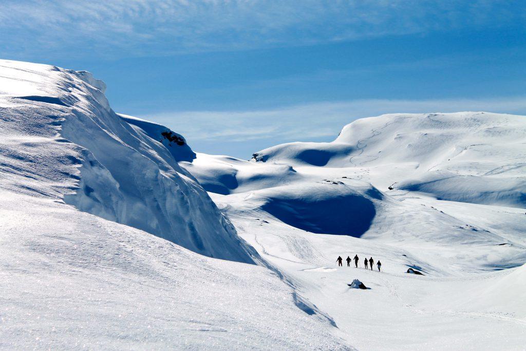 På vei opp til Midtfjell i Hardanger fra Ulvik.
