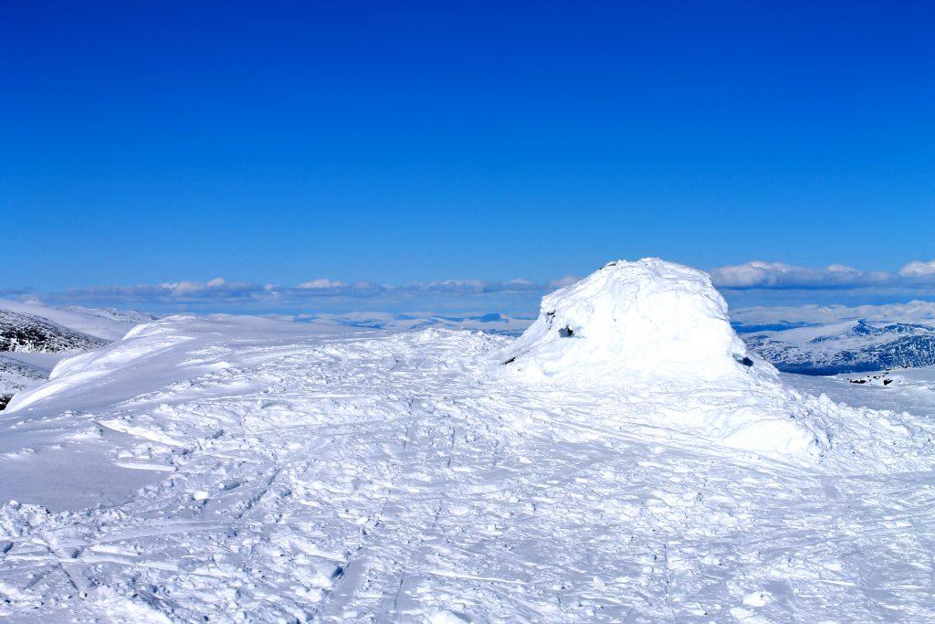 Toppvarden på Austre Kalvehøgde (2.178 moh)