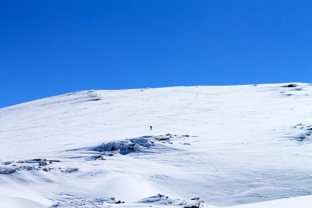 Mot toppen av Ingebjørgfjellet.