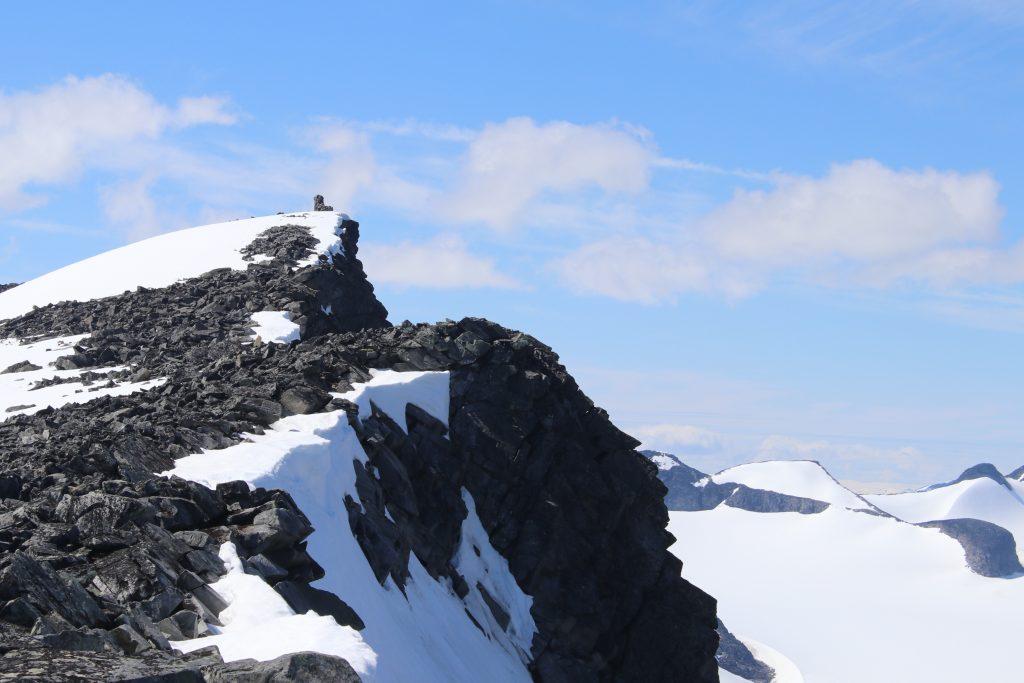 Toppen av Styggehøe (2.213 moh) i Jotunheimen.