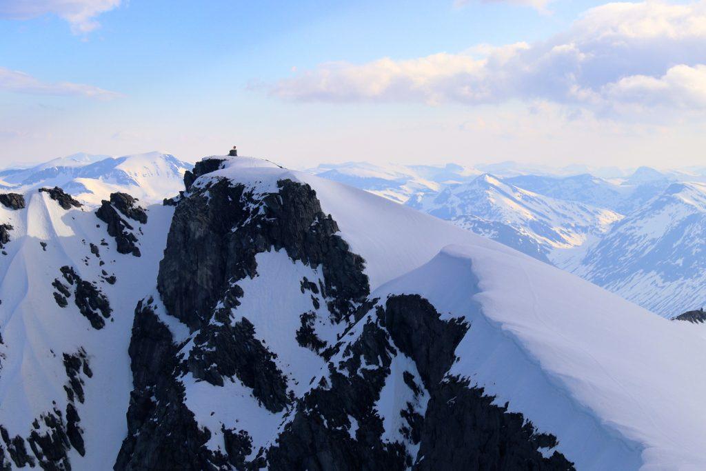 Toppen av Stryneskåla (1.848 moh)