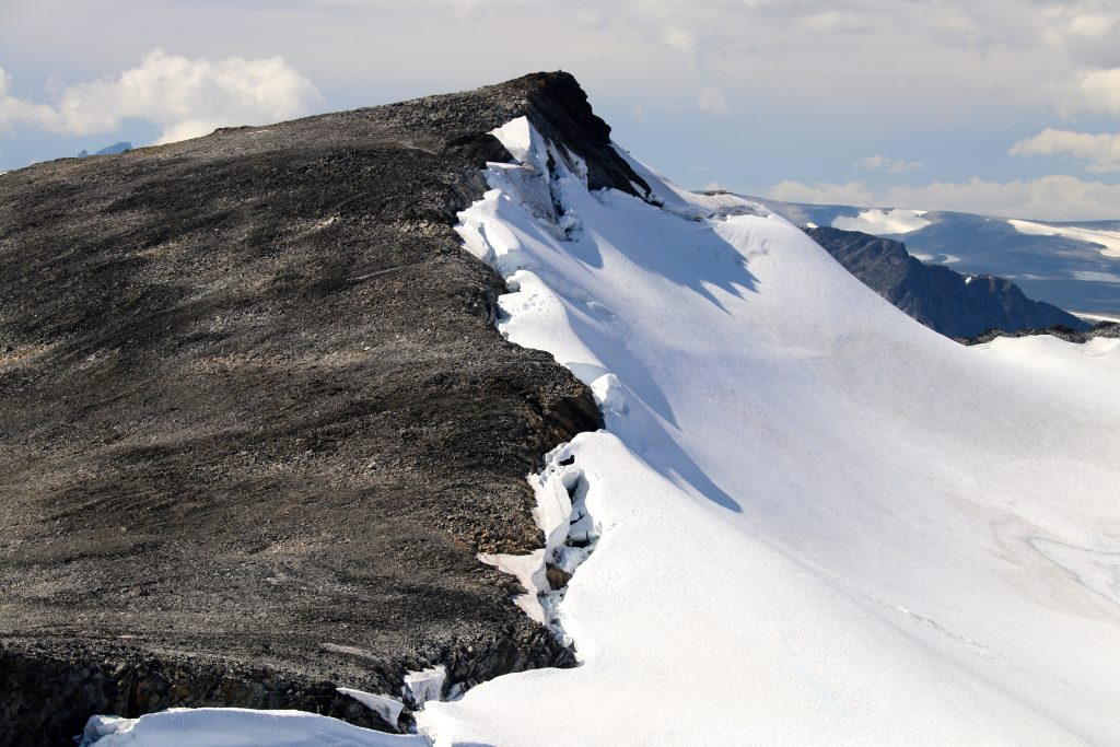 Stygghøbreskardet med Søre Veotinden (2.267 moh)