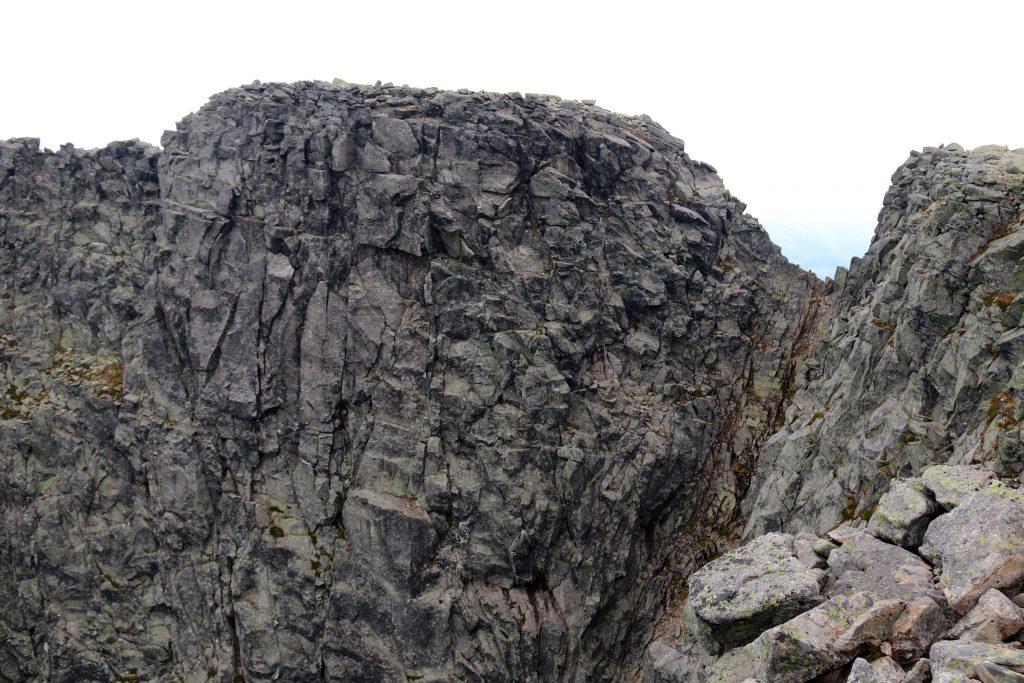 Traversen over toppen av Gygrastolen sett fra sør.