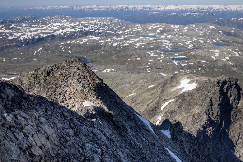 Svaene opp fra nordvestryggen til Store Austanbottstind.