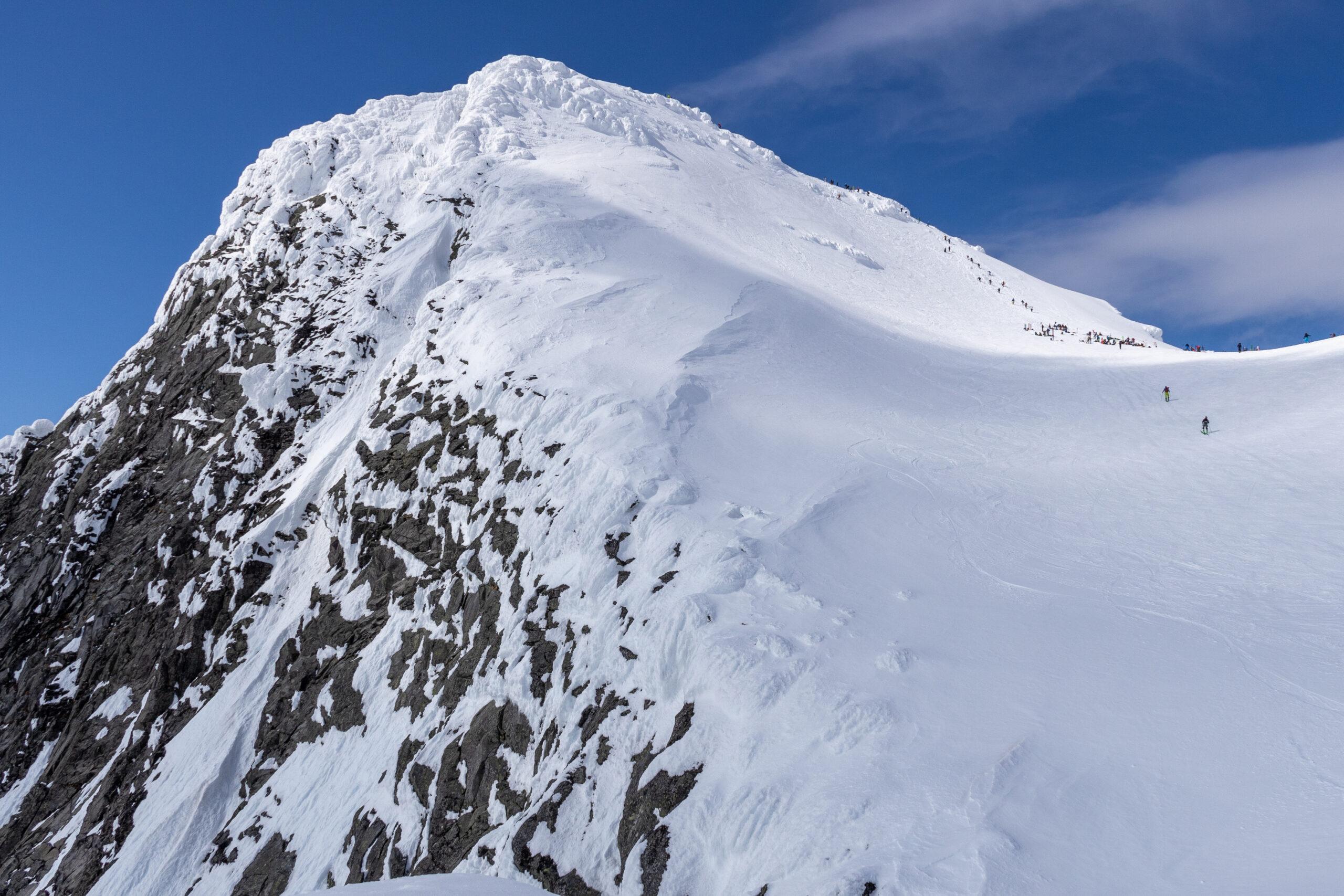 Toppen av Store Ringstind, en ski-klassiker i Hurrungane.